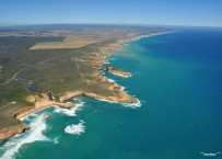 Dec09: On helicopter scenic flight over the 12 Apostles