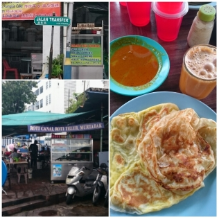 The Roti Canai shop at Jalan Transfer - total RM8 (2 plain, 2 eggs & 2 teh tarik). The roti was freshly made and the egg roti was very fluffy.