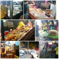 This was what I came here for - a night market for locals