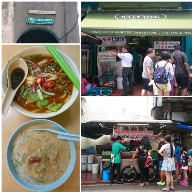 The chendol and assam laksa