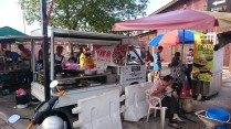 Street stalls along one of the clan jetties