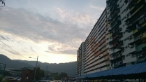 One of the few block of flats at the kampong