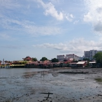 View from the jetty, it was low tide