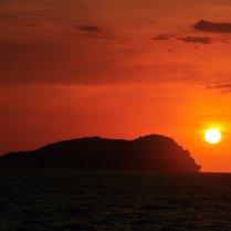 Gaya Island: As the sun sets...
