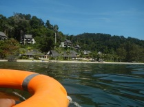 Gaya Island: Swim back to shore?