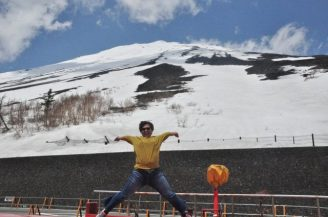 09May14: Mount Fuji Jumpshot. Even its -6 degrees, did not hinder this jumpshot