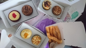 Top (L-R): Red Velvet Nutella, Chocolate Infinity, Pisang Bakar (Burnt Banana) Cheese and Maximum Milo Bottom (L-R): Salted Egg Yolk, Salted Caramel and Churros