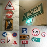 Unique signs at Hotel Jen Tanglin