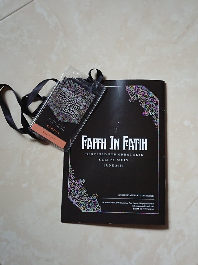 Faith in Fatih - Programme Booklet & Badge